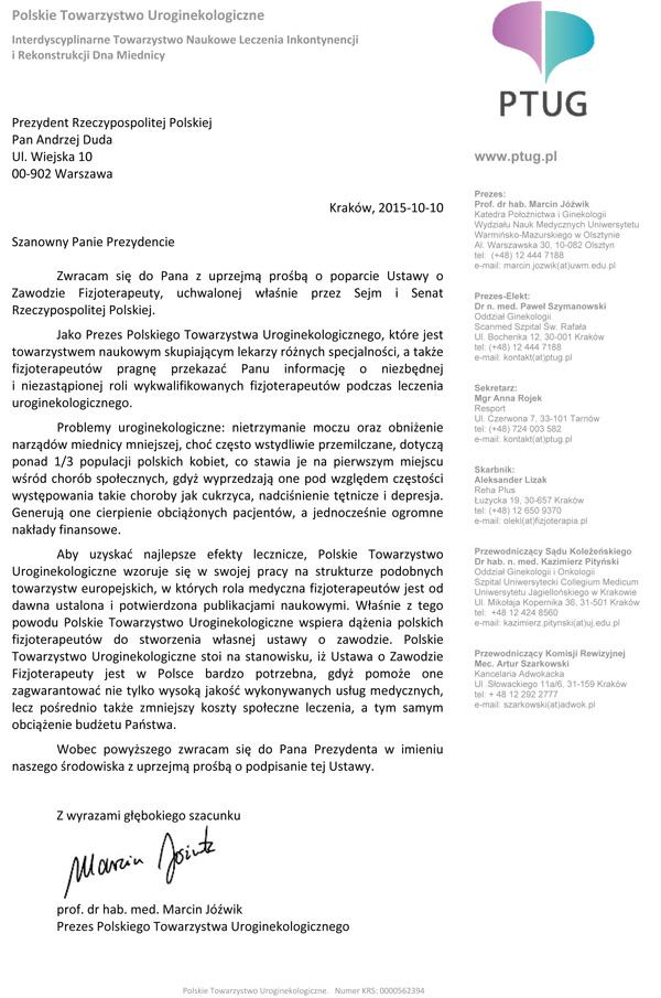 Microsoft Word - List Prezydent Rzeczypospolitej Polskiej 2015.1